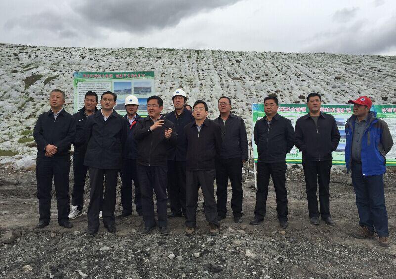 青海省海西州州委书记文国栋一行莅临木里矿区调研工作